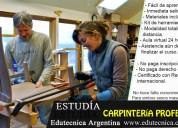 Curso carpintería profesional con materiales