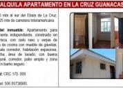 Alquiler de apartamento en la cruz guanacaste