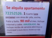 Se alquila apartamento 1 dormitorios