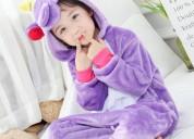 Pijama infantil de unicornio violeta - tienda kigu