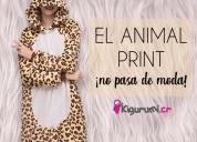 Pijamas de leopardo- tienda kigurumi costa rica