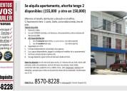 Se alquila apartamento en sj - paso ancho 155.000