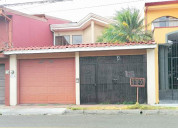 Se vende amplia casa en san francisco, heredia