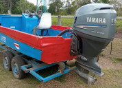 Se vende linda panga con motor yamaha