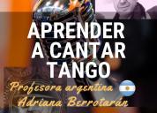 Aprenda a cantar tango